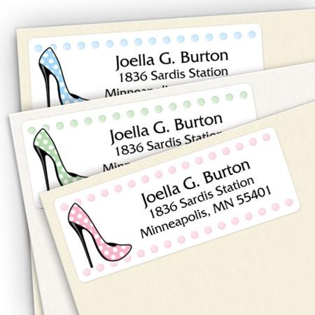 High Heels Address Label Assortment Pack