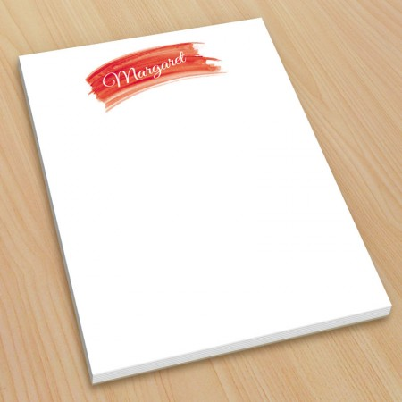 Red Watercolor Small Note Pads