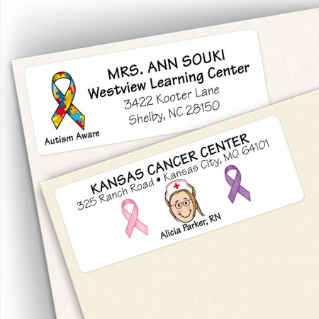 Ribbon Address Label