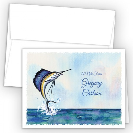 Sailfish Note Card