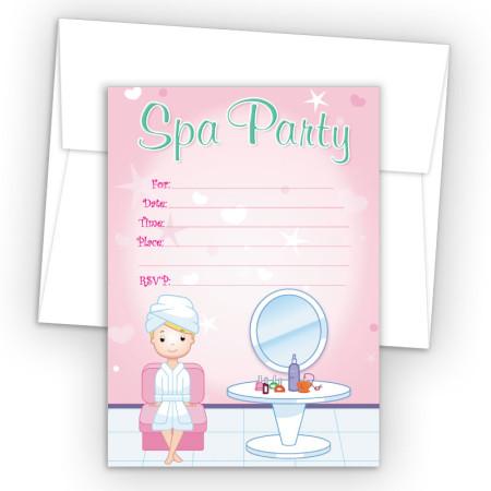 Salon Girl 1 Fill-In Birthday Party Invitations