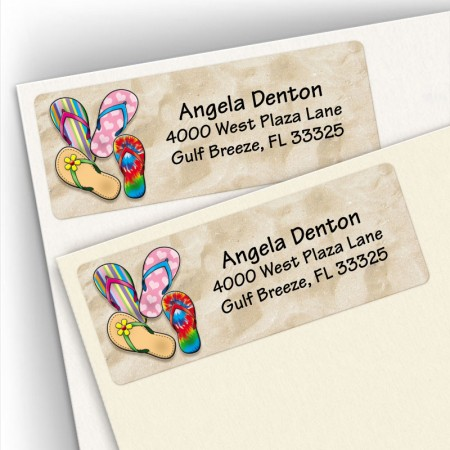 Sandals Address Labels