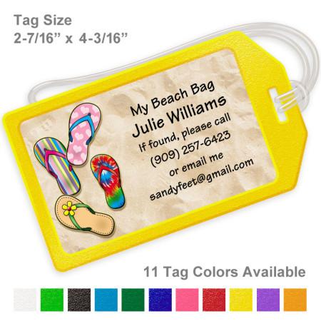 Sandals-Flip Flops Luggage Tag