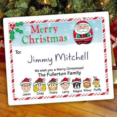 Santa Christmas Gift Label