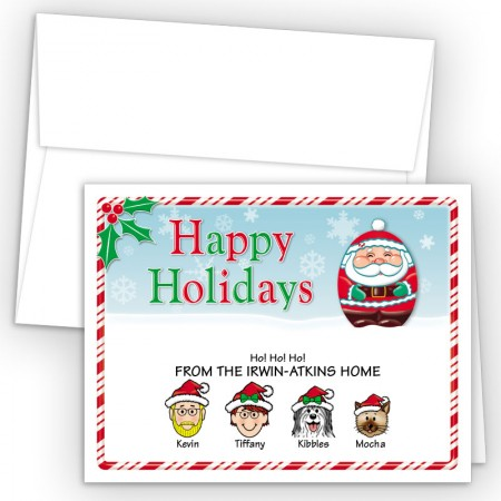 Santa Happy Holiday Fold Note