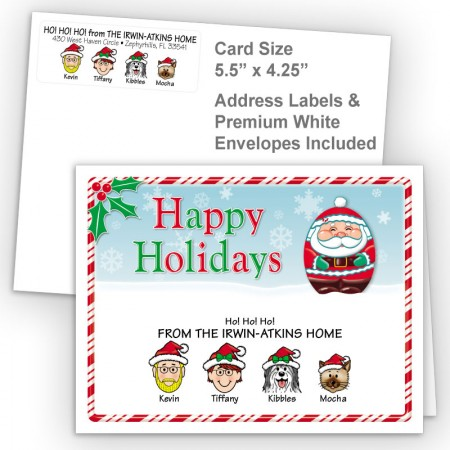 Santa Happy Holidays Fold Note Set
