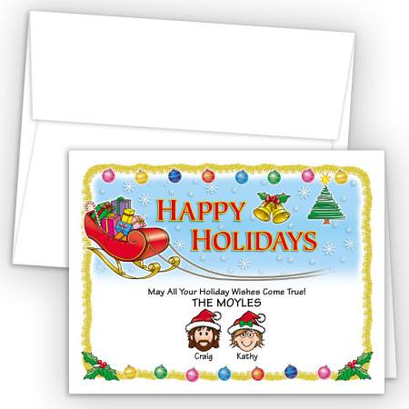 Santa's Sleigh Happy Holiday Fold Note