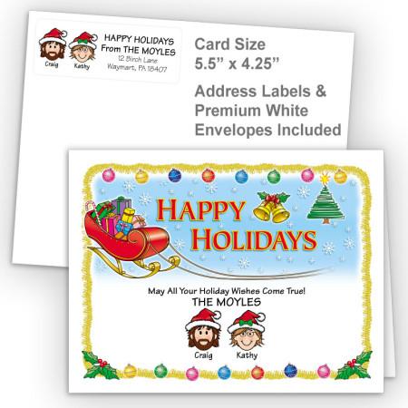 Santa's Sleigh Happy Holidays Fold Note Set