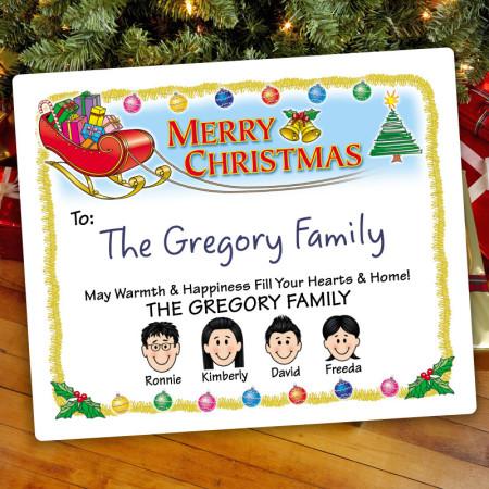 Santas Sleigh Christmas Gift Label