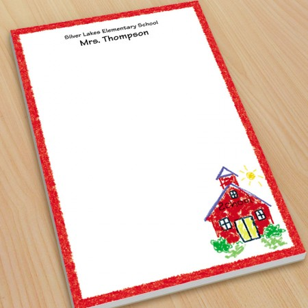 Schoolhouse Teacher Large Note Pads