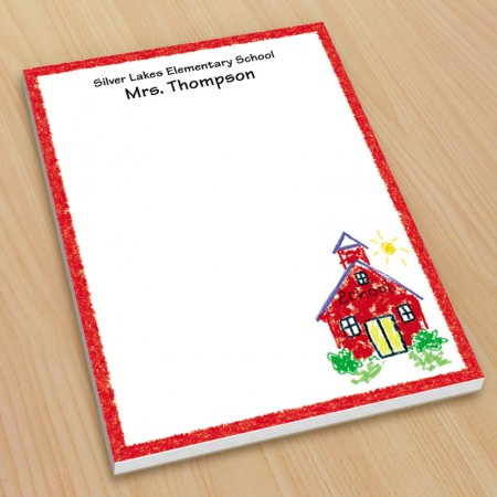 Schoolhouse Teacher Small Note Pads