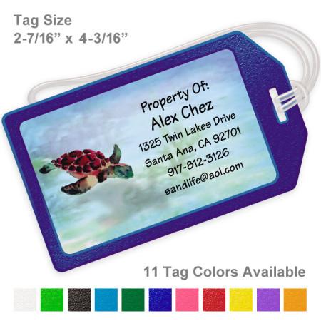 Sea Turtle Luggage Tag