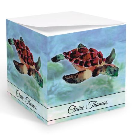 Sea Turtle Memo Cube