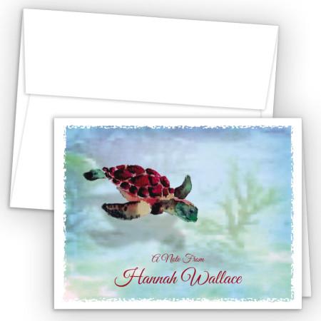 Sea Turtle Note Card