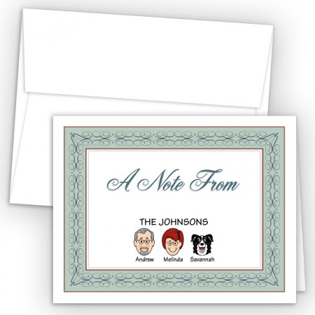 Seabreeze Foldover Family Note Card