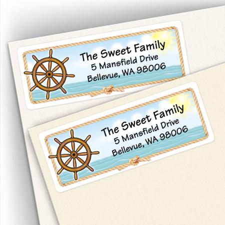 Ships Wheel Address Labels