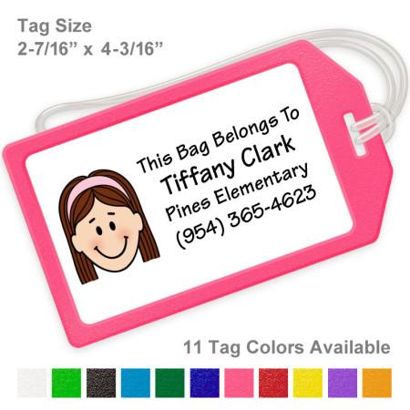 Single Caricature Bag Tags