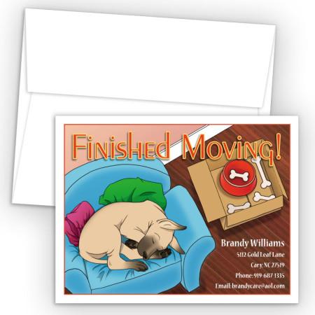 Sleeping Doggy Moving Card