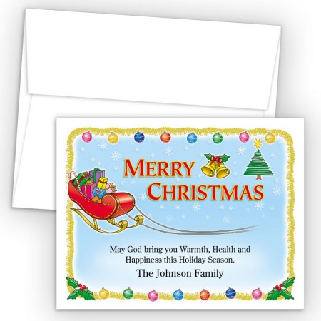 Sleigh Merry Christmas Holiday Cards
