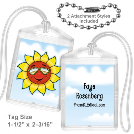 Smiling Sunflower Mini Tag