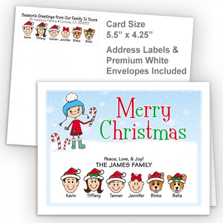 Snow Girl Merry Christmas Fold Note Set