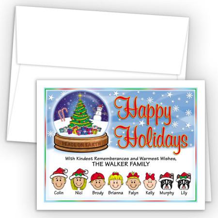 Snow Globe Happy Holiday Fold Note