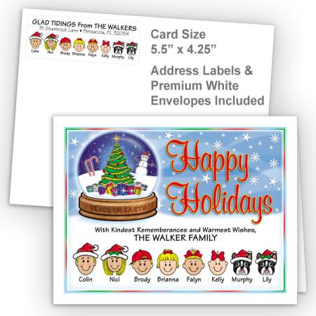 Snow Globe Happy Holidays Fold Note Set