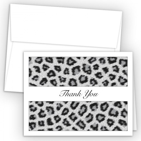 Snow Leopard Thank You Cards