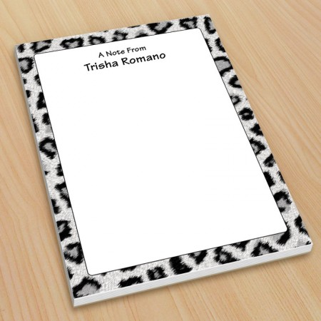 Snow Leopard Small Note Pads