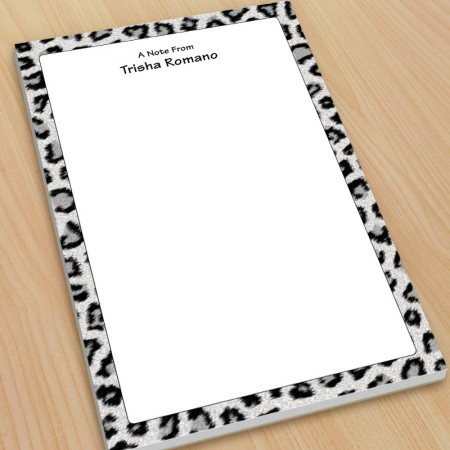 Snow Leopard Large Note Pads