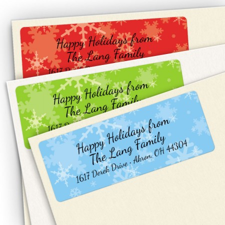 Snowflakes Assortment Pack Address Labels