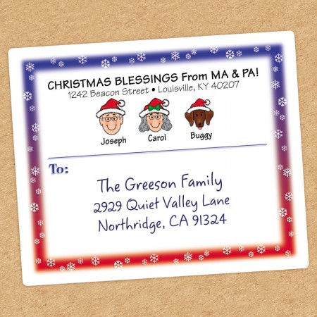 Snowflakes Family Shipping Labels