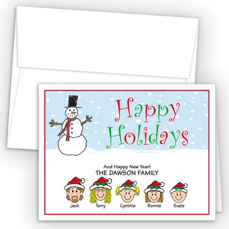 Snowman 3 Happy Holiday Fold Note