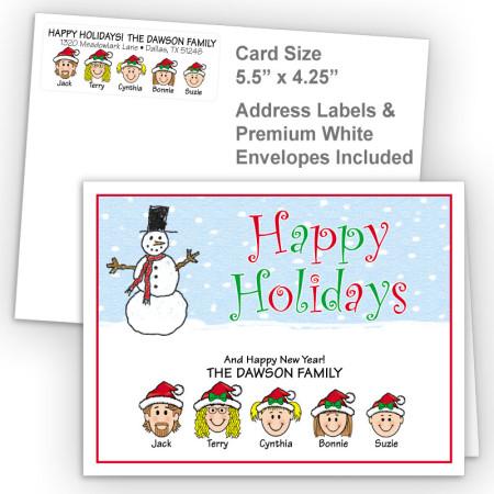 Snowman 3 Happy Holidays Fold Note Set