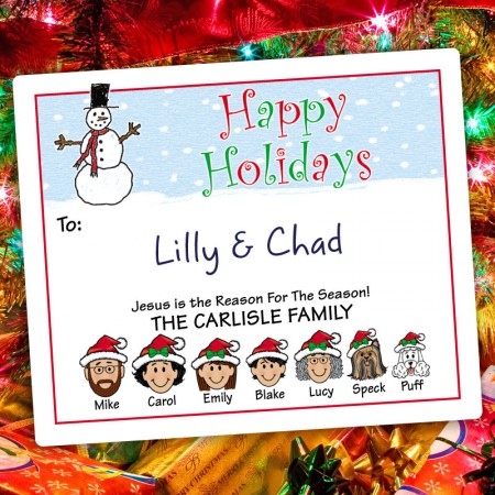 Snowman 3 Holiday Gift Label