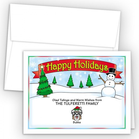 Snowman Happy Holiday Fold Note