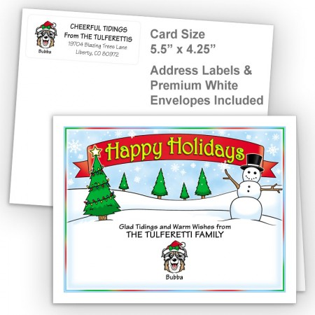 Snowman Happy Holidays Fold Note Set