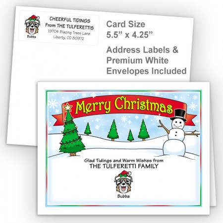 Snowman Merry Christmas Fold Note Set