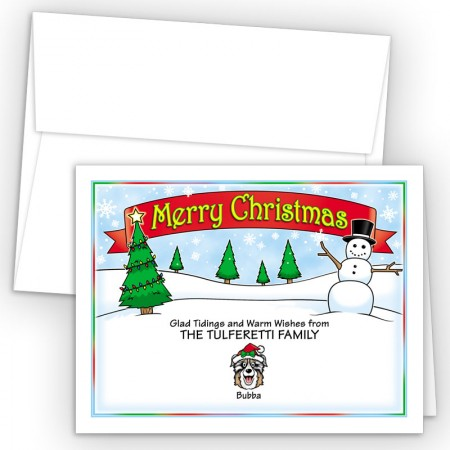 Snowman Merry Christmas Holiday Fold Note Head
