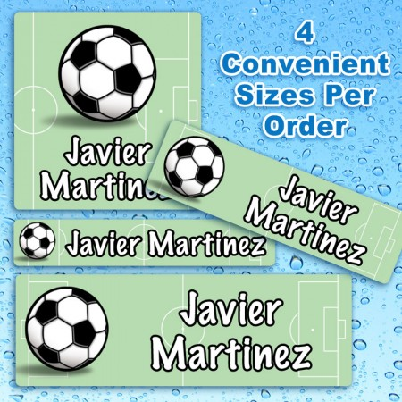 Soccer Waterproof Name Labels For Kids