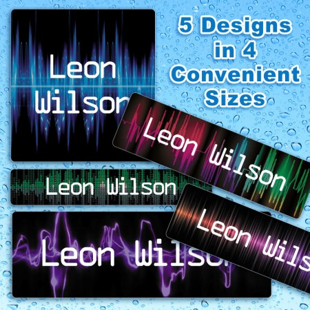 Sound Waterproof Name Labels For Kids