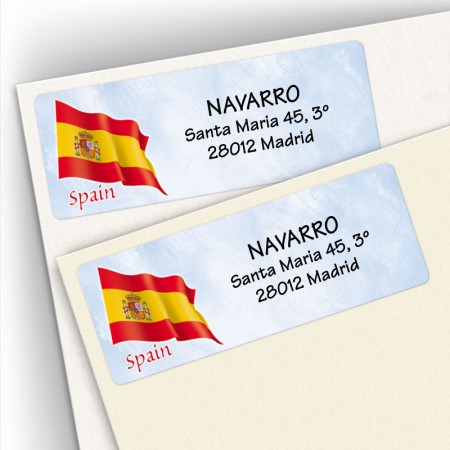 Spanish Flag Address Labels
