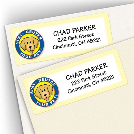 Spay/Neuter Dog Address Labels