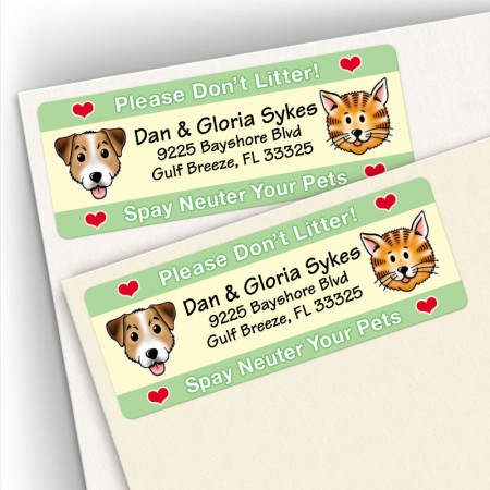 Spay/Neuter Don't Litter Address Labels