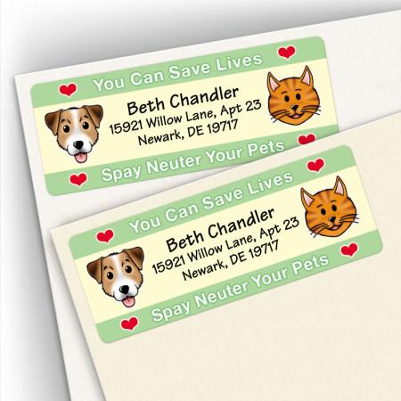 Spay/Neuter Save Lives Address Labels