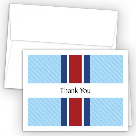 Sport Stripes Thank You Cards