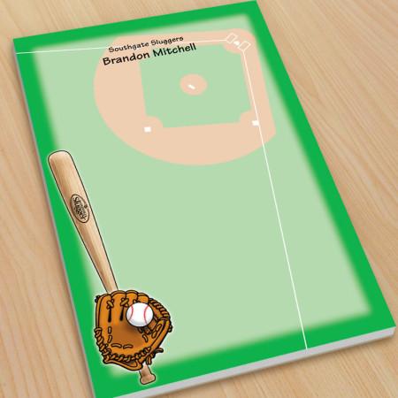 Sports Baseball Large Note Pads