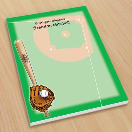 Sports Baseball Small Note Pads