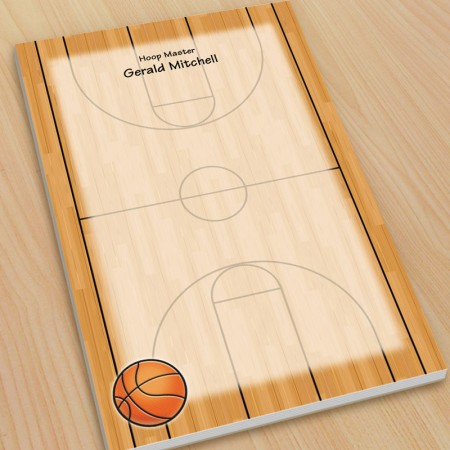 Sports Basketball Large Note Pads