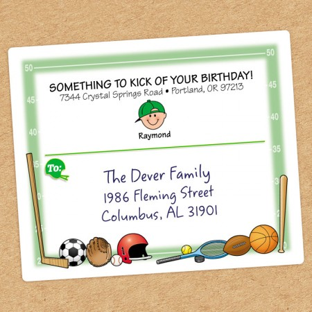 Sports Family Shipping Label